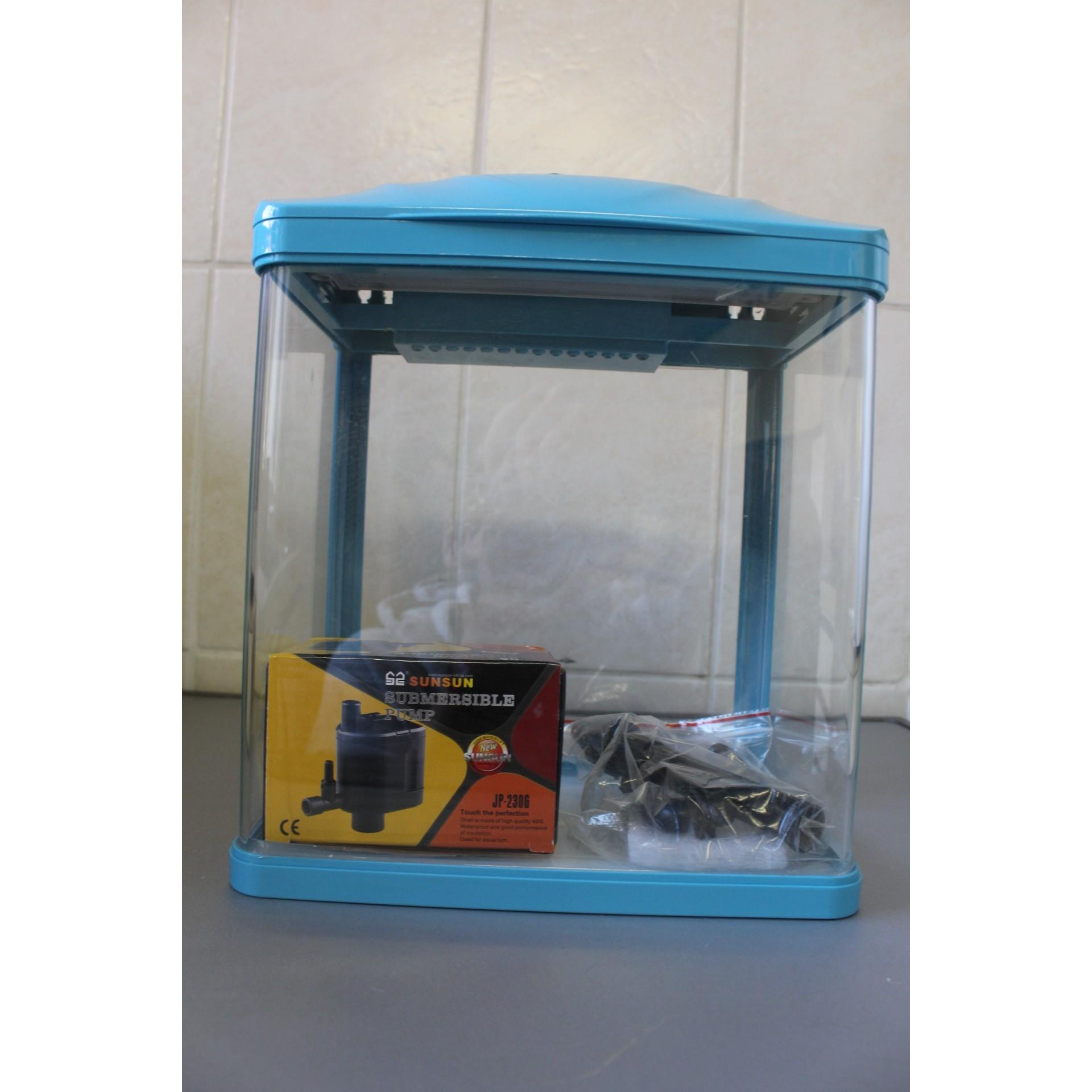 mini aquarium with led and filter 7ltr rebel pets. Black Bedroom Furniture Sets. Home Design Ideas